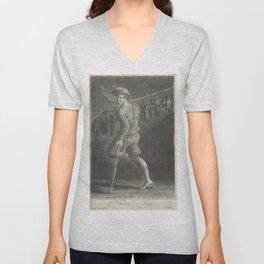 Vintage Print - Giuseppe Mitelli - A Shoe Seller (1700) Unisex V-Neck