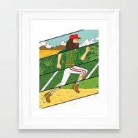 run Framed Art Prints featuring Run by Derek Eads
