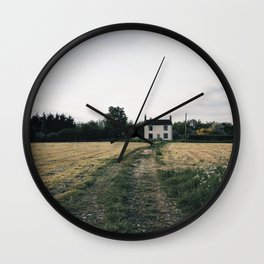 farm in the countryside Wall Clock