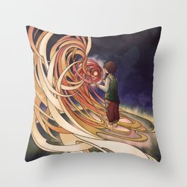 Calcifer Throw Pillow