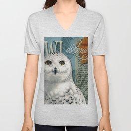 The Snowy Owl Journal Unisex V-Neck