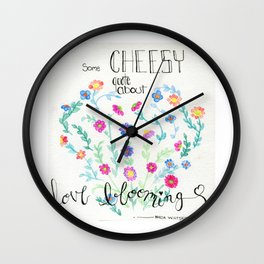 Love Blooming Wall Clock