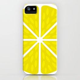 Fresh juicy lime- Lemon cut sliced section iPhone Case