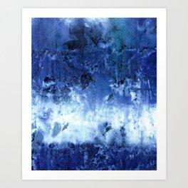 Saltwater Silk Blue Art Print