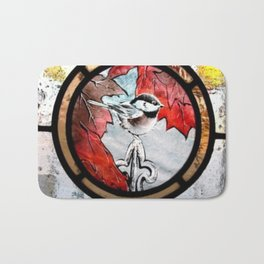 Bird in Fall Bath Mat