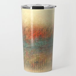 Rustic Orange and Blue Travel Mug