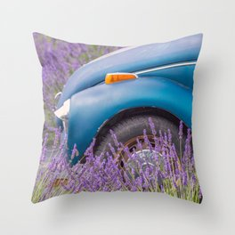 Bug in Lavender Field Throw Pillow