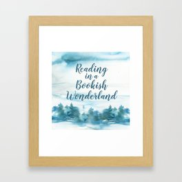 Bookish Wonderland Framed Art Print
