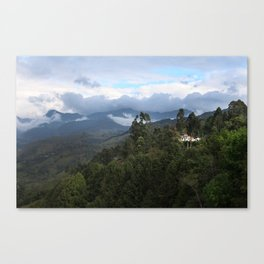 A house in the mountains  Canvas Print