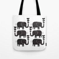 elephants Tote Bags featuring ELEPHANTS by Matthew Taylor Wilson