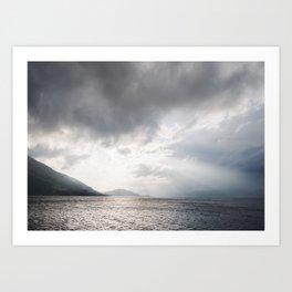 Light and Lochs, Scotland   landscape - nature - poster - print - light - pattern - sky - photo Art Print