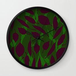 Jungle leaf Green Wall Clock