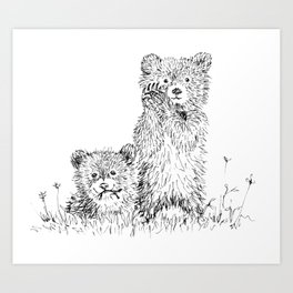 Bear Cubs Art Print