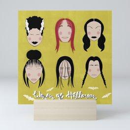 Women of Halloween- Green Sheen Mini Art Print