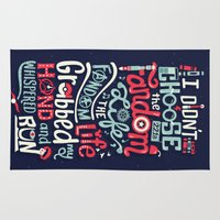 risa rodil Area & Throw Rugs featuring Fandom Life by Risa Rodil