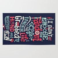 fandom Area & Throw Rugs featuring Fandom Life by Risa Rodil