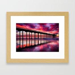 Warm Winter's Sunset Framed Art Print