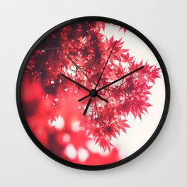 Red Japanese Maple Wall Clock