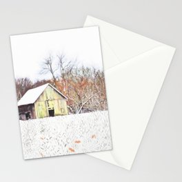 Illinois Snow on the Barn Stationery Cards