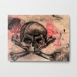 skull&rose Metal Print