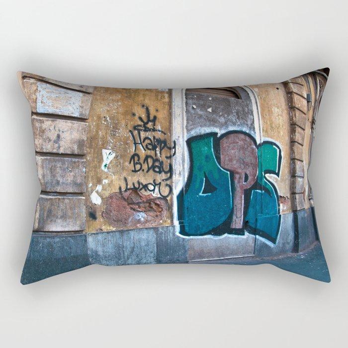 SICILIAN FACADE in CATANIA Rectangular Pillow