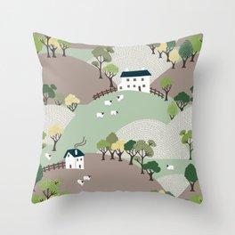 Quiet Hills Throw Pillow