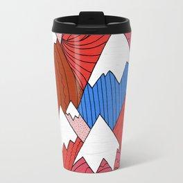 The Red Mountains (Pattern) Travel Mug