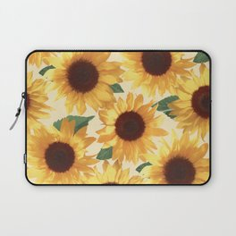 Happy Yellow Sunflowers Laptop Sleeve