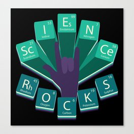 Science Rocks Periodic System Chemistry Gift Canvas Print