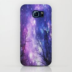 Black Trees Purple Blue Space Galaxy S8 Slim Case