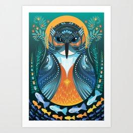 The Nesting Fisher King Art Print