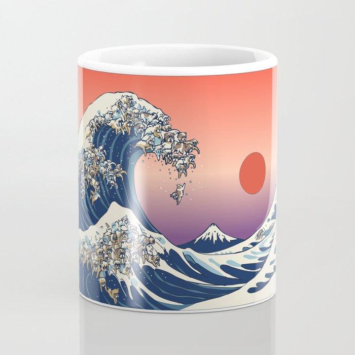 The Great Wave of English Bulldog Coffee Mug