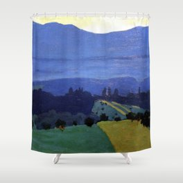Felix Vallotton -  Landscape in the Jura Mountains (new color editing) Shower Curtain