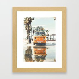 Surfing Day 3 Framed Art Print