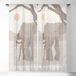 Spirit Animal – Elephant Sheer Curtain