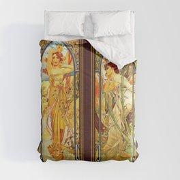 Vintage Art Nouveau - Alphonse Mucha Comforters