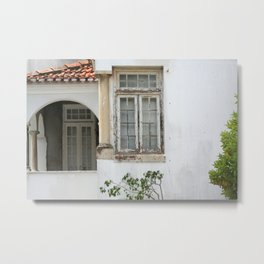 House with Closed Windows Metal Print