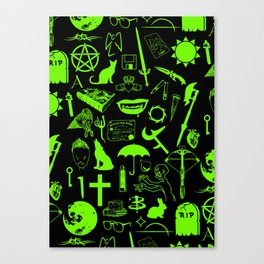 Buffy Symbology, Green Canvas Print