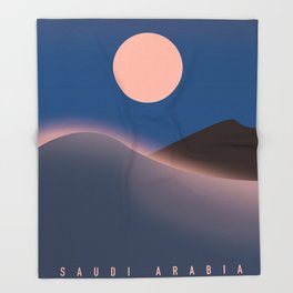 Saudi Arabia Travel poster, Throw Blanket