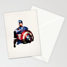 Polygon Heroes - Captain America Stationery Cards