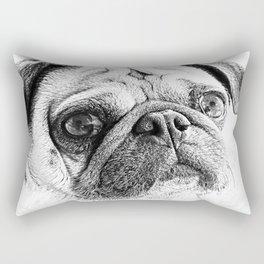 Cute Pug Art By Annie Zeno Rectangular Pillow