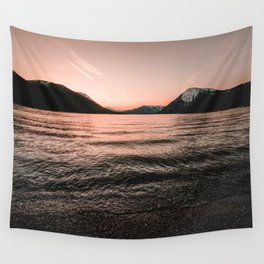 Sunset at the Mountain Lake - Nature Photography Wall Tapestry