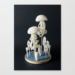 Paleozoic Sea Creature: jellyfish Canvas Print
