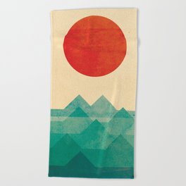 The ocean, the sea, the wave Beach Towel