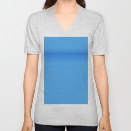 Blue Empty Room Unisex V-Neck