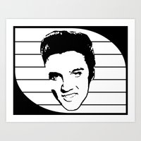 elvis presley Art Prints featuring Elvis Presley by Silvio Ledbetter