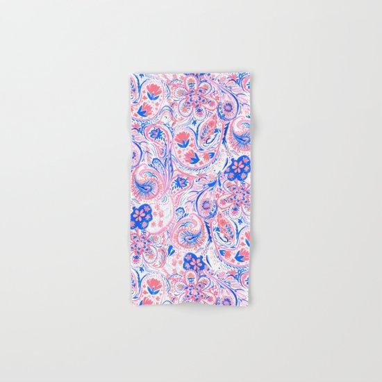 Paisley Watercolor Blue Hand & Bath Towel