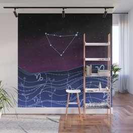 Capricorn Zodiac Constellation Design Wall Mural