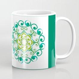 Grace Mandala x 2 - Green White Coffee Mug