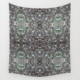 Sparkly colourful silver mosaic mandala Wall Tapestry
